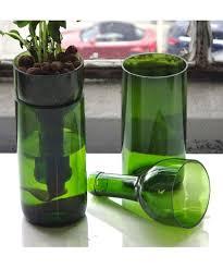 Wine Bottle Planters by Self Watering Recycled Wine Bottle Planter Diy Pinterest