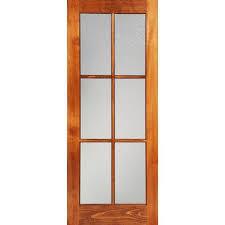 home depot interior glass doors milette 30x80 interior 6 lite door clear pine with