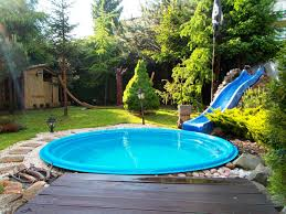 swimming pool two octagon pool configuration with patio furniture