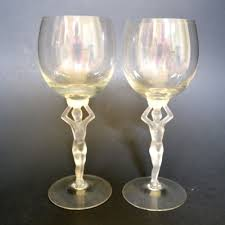Wine Goblets 2 Vintage Deco German Spiegelau 8