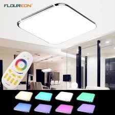Wireless Ceiling Light Fixtures Led Ceiling Light Rgb Color Change 36w Flush Mount Lamp Wireless