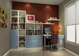 simple study room design desk bookcase bination library room