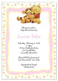 winnie pooh invitations baby pooh and tigger baby shower card u2013 frenchkitten net