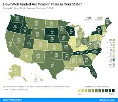 Where Is Washington Dc Located On The Map by How Well Funded Are Pension Plans In Your State Tax Foundation
