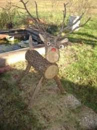 how to make log deer lawn ornaments from fallen trees lawn