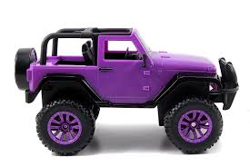 purple barbie jeep amazon com jada toys girlmazing big foot jeep r c vehicle 1 16