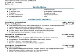 Sample Resume Of Registered Nurse by Sample Resume Nursing Icu