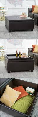 Ottoman Used As Coffee Table This Ottoman Can Be Used For Storage And As A Coffee Table When
