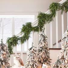 cordless soft pine garland grandin road