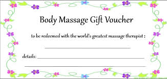 7 best images of printable massage gift certificates printable