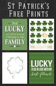 free st patrick u0027s day printables free printables diy cards