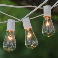 vintage light bulb strands 25 ft white c9 string light with vintage edison clear bulbs