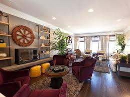 living room arrangements for long narrow rooms desk behind sofa