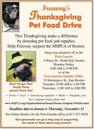 donate to freeway s thanksgiving pet food drive through november