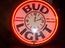 bud light neon light vintage bud light budweiser 92 neon sign clock 20