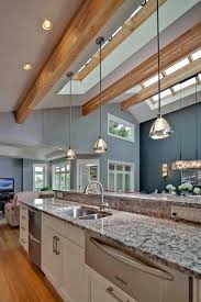 pendant lights for vaulted ceilings open concept great room with vaulted ceilings contemporary