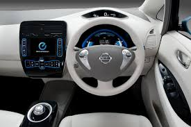 nissan leaf interior nissan leaf affordable all electric hatch goes on sale in 2010
