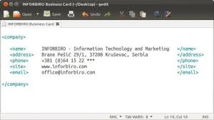 Creating Business Card How To Create A Business Card With Gimp Inforbiro Information