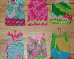ornaments made with lilly pulitzer fabric