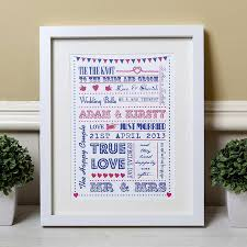 wedding gift ideas uk personalised typography wedding gift print by lovely jubbly