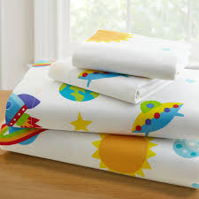 Outer Space Curtains Kids by Outer Space Planets Rockets Bed Sheet Set Toddler Sheets Cotton