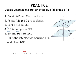 geometry points lines planes