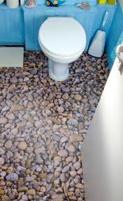 bathroom with our amazing river rock floor design only at harvey