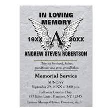 Funeral Service Invitation Angel Funeral Invitations U0026 Announcements Zazzle