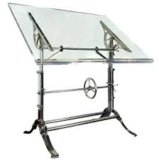 Iron Drafting Table 1910 Cast Iron Drafting Table With Acrylic Top Urban Archaeology
