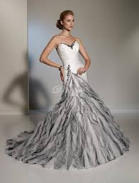 Black And White Wedding Dress Black And White Mermaid Wedding Dresses Pictures Ideas Guide To