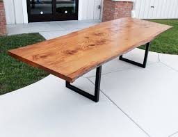 Oak Meeting Table Live Edge Pin Oak Table Solid Hardwood Furniture Locally