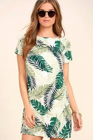 print dress print dress ivory and green print dress shift dress 48 00