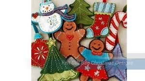 felt gift bag christmas designs youtube