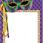 mardi gras frame picture frame mardi gras frame template with space for text