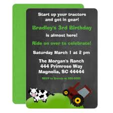 tractor birthday invitations u0026 announcements zazzle