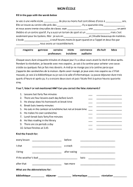 bunch ideas of french reading comprehension worksheets grade 6 on