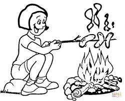 coloring pages fascinating camping coloring toasting