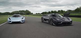 one 1 koenigsegg koenigsegg one 1 and regera driven together at goodwood