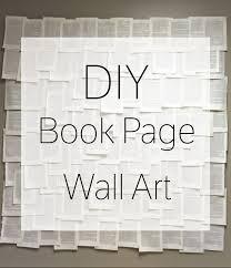 diy book page wall art walking worthy loversiq