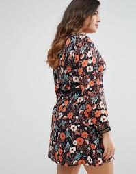 boohoo dresses new york boohoo plus floral plunge skater dress