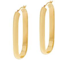 oval hoop earrings bronze 2 linear design oval hoop earrings by bronzo italia page