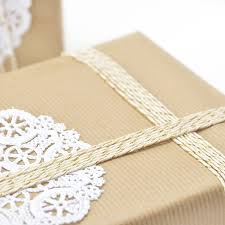kraft brown gift wrapping paper by peach blossom