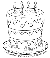 skillful birthday cake coloring pages birthday cake colouring