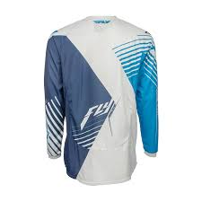 fly racing 2016 youth kinetic vector motocross jersey stretch off