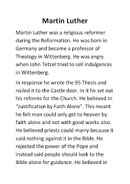 thesis of martin luther martin luther