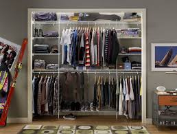 Wardrobe Shelving Systems by A Combination Closet Wire Shelving Home Decorations