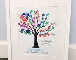 teachers gift fingerprint tree a teacher takes a hand quote