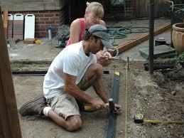 Diy Patio Pavers Installation How To Lay A Brick Paver Patio How Tos Diy