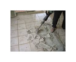 Remove Floor Tiles From Concrete Removing Hard Tile Floor