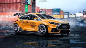ford focus 2015 rs artstation ford focus rs 2015 tuning emil arts